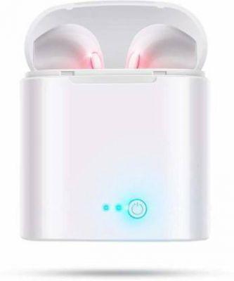 HARRAI wireless earphone Bluetooth Headset with Mic (White, In the Ear)