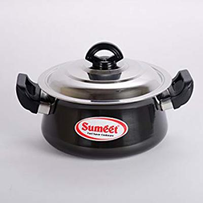 Sumeet 3mm Hard Anodised Handi with (Stainless Steel Lid) (2 Ltrs) - No. 13