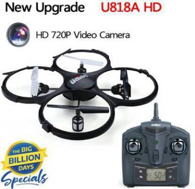 Udi RC U818A 2.4GHz Rc Drone with HD Camera - 4Ch (6 Axis)