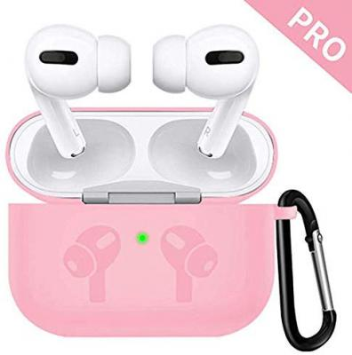 AirPods Pro (2019) Case Vinatge and Silicon by EXECLIEN (Pink Silicone)