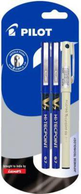 Pilot V7 (2 Blue +1 Black Hi-tech Point 05) Roller Ball Pen