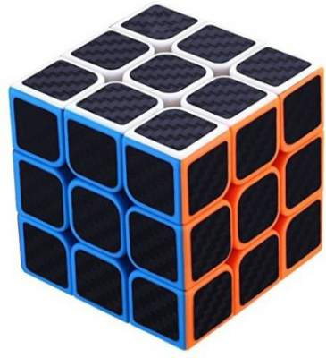 Emob High Speed Carbon Fiber Sticker 3x3 Colors Magic Cube Puzzle Toy with Adjustable Speed (5.5cm)