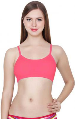 Women Bralette Lightly Padded Bra(Pink)