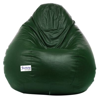 Excel Classic Bean Bag Cover Without Beans - XL Size - Dark Green Colour