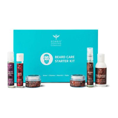 Bombay Shaving Company Beard Care Starter Gift Kit for beard growth and grooming - 500 g
