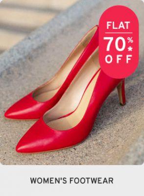Women's Footwear at Flat 70% Off