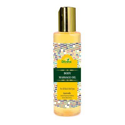Divine India Body Massage Oil With Jojoba- Herbal and Ayurvedic, 200ml