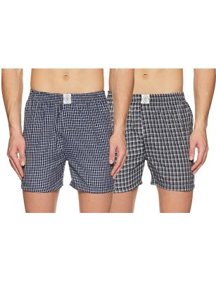 ABOF Men's Regular Fit Shorts (Pack of 2)