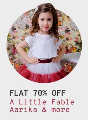 Aarika & A little Fable Kids Dresses at flat 70% Off