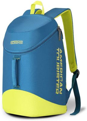 American Tourister Scamp 19 Ltrs Blue/Yellow Casual Backpack