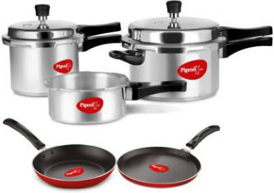 Pigeon Cookware Set  (Aluminium, 1 - Piece)