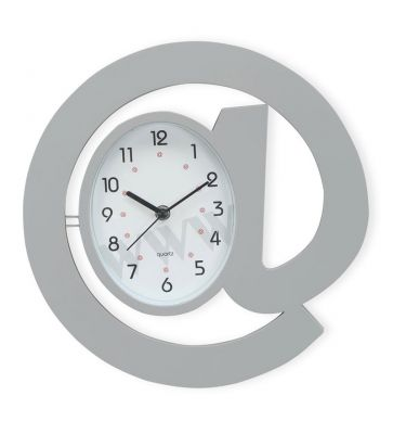 Grey Plastic Analog Wall Clock by @Home