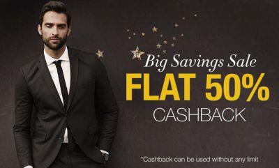 Limeroad Big Savings Sale: Flat 50% cashback