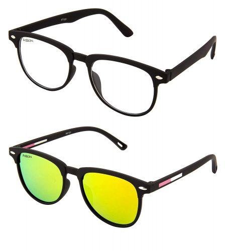ADDON EYE WEAR Combo Mirrored Flat Unisex Sunglasses