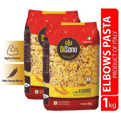 Disano Elbow Durum Wheat Pasta, Pack of 2 (2 x 500 GMS)