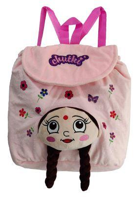 Chhota Bheem Chutki 3D Face Plush Bag - Pink