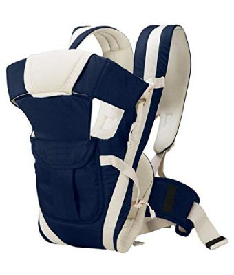 Antil's Baby Carrier Bag/Adjustable Hands Free 4 in 1 Baby/Baby sefty Belt/Child Safety Strip/Baby Sling Carrier Bag/Baby Back Carrier Bag (Navy Blue) Front Carry Facing