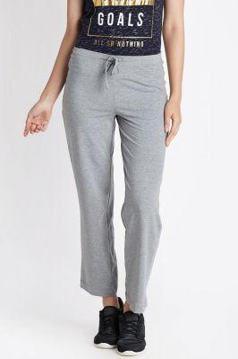Ajile Women Solid Slim Fit Grey Track Pants