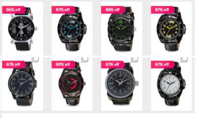 Giani Bernard Genuine Leather Watches at Rs.339