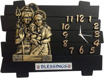 Flipkart SmartBuy Analog 29 cm X 35 cm Wall Clock (Black, Without Glass)