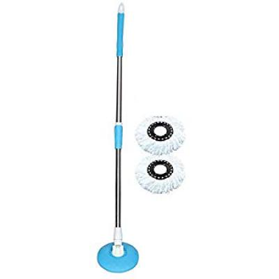 AUTO VILLA 360° Spin Stainless Steel Rod Stick Rotating Pole with 2 Micro Fiber Refills (Random Colour)