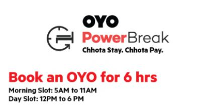 OYO Powerbreak: Book Rooms for 6 Hours at Half Rate