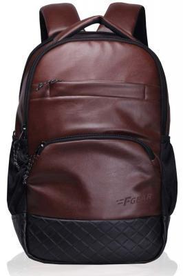 F Gear Luxur Brown 25 Liter Laptop Backpack (Mature Bag)