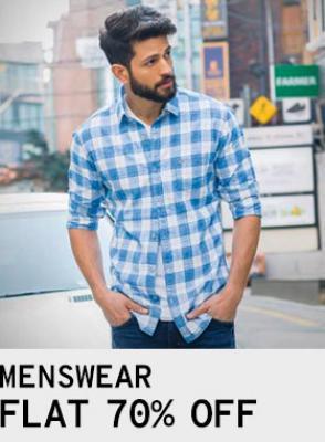 Menswear at Flat 70% Off