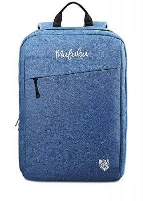 Mufubu Presents Iconic Slim Casual Backpack for Students & Professionals - Blue
