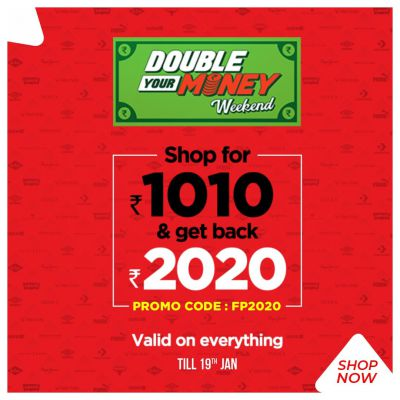 Brandfactory Double Your Money Weekend: Buy For Rs.1010 and Get Back 2020