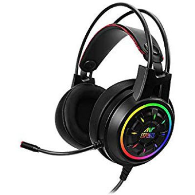 Ant Esports H707 HD RGB LED Gaming Headset for PC / PS4 / Xbox One/Nintendo Switch, Mac, Noise Cancelling Over-Ear Headphones with Mic.