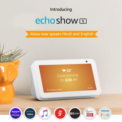 Echo Show 5 - See and do more with Alexa on 5.5Inch screen (Black)