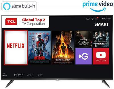 TCL 138.71 cm (55 inches) 4K Ultra HD Smart LED TV 55P65US (Black) (2019 Model)   Built-In Alexa