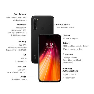 Redmi Note 8 (6GB RAM, 128GB Storage)