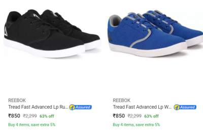 Reebok Sports Shoes Min.60% Off...