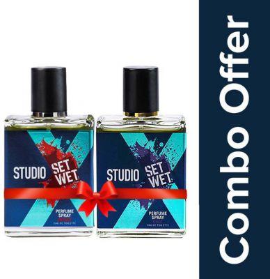 Set wet studio x Perfume Spray For Men, Edge & Impact Combo Set