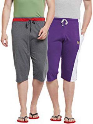 VIMAL Men's Three Fourth Shorts (pack of 2) at 84% off