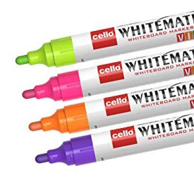 Cello Whitemate Vivid Whiteboard Marker - (Multicolor)
