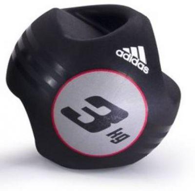 ADIDAS Dual Grip Medicine Ball - 3kg Medicine Ball (Weight: 3 Kg, Black)