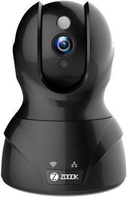 Zoook Eagle Cam 2MP (1920x1080P) Wi-Fi Wireless IP Home Security Camera CCTV with Cloud Storage & Alexa Support with Pan/Tilt and Motion Detection