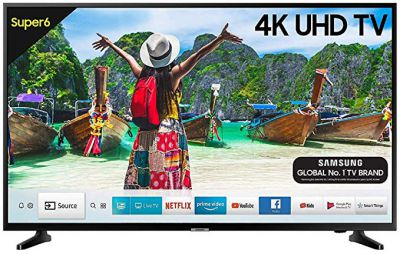 Samsung Super 6 108cm (43 inch) Ultra HD (4K) LED Smart TV (UA43NU6100KXXL / UA43NU6100KLXL)