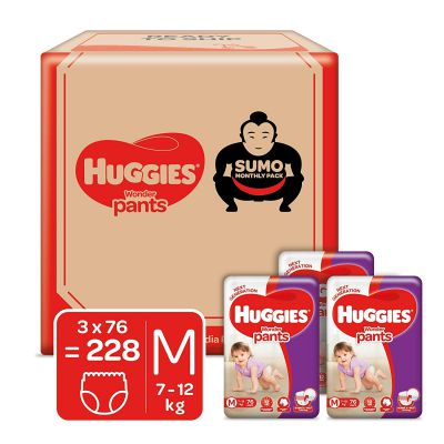 Huggies Wonder Pants Diapers Sumo Pack