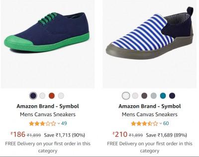 Amazon Brand - Symbol Men's footwear Minimum 70% off