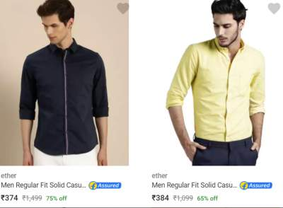 Ether Casual Party Wear Shirts