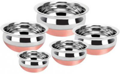 Renberg Steelix Pot 500 ml, 1500 ml, 1100 ml, 350 ml, 750 ml  (Stainless Steel)