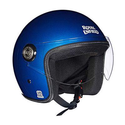 Royal Enfield Blue Open Face with Visor Helmet Size (XL)62 CM (RRGHEI000036)