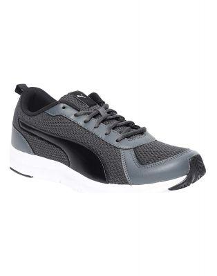 Puma Mens Flexracer 19 Idp Dark Shadow Black Grey Walking Shoes