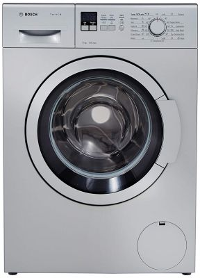 Bosch 7 kg Fully-Automatic Front Loading Washing Machine (WAK24168IN, Silver, Inbuilt Heater)