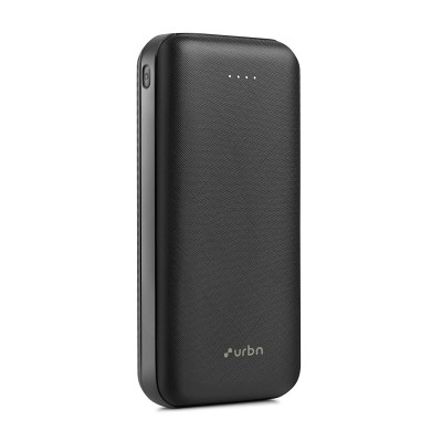 URBN 20000mAh Li-Polymer Power Bank with 2.1 Amp Fast Charge, Type C & Micro Input and Ultra Compact Slim Body with BIS Certification