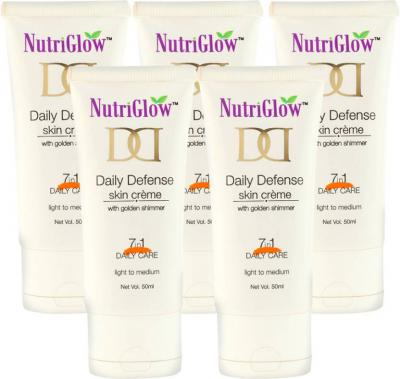 NutriGlow Daily Defense Skin Creame 50g (Pack Of 5)  (50 g)
